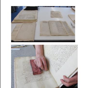 Restaurierung der historischen Dokumente