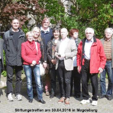 Stiftungstreffen in Magdeburg, am 30. April 2016