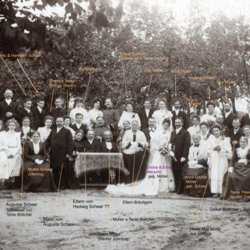 Hochzeitsfoto von 1905