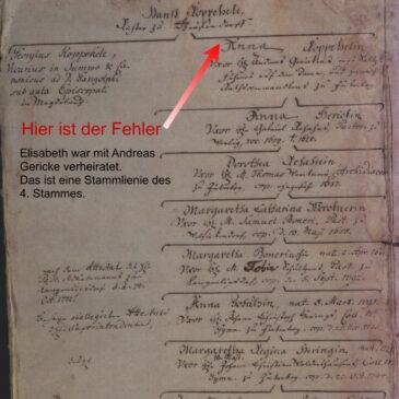 Forschungsergebnisse zum 4. Stamm – Elisabeth Koppehele